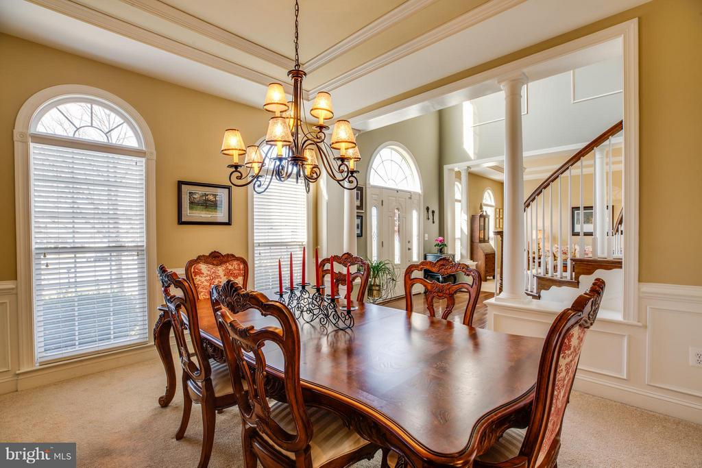 Formal Dining Room with Tray Ceiling - 1019 E KENSINGTON CIR, FREDERICKSBURG