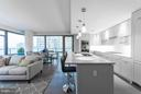 Kitchen/Living - 4960 FAIRMONT AVE #701, BETHESDA