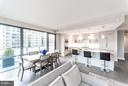 Living/Dining - 4960 FAIRMONT AVE #701, BETHESDA