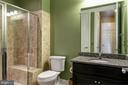 Main level bedroom and en suite full bath. - 41139 WHITE CEDAR CT, ALDIE