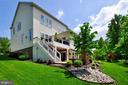 Deck, patio, fireplace & hardscape backs to trees - 41139 WHITE CEDAR CT, ALDIE