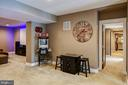 Basement rec room, media area, bar, br, full bath - 41139 WHITE CEDAR CT, ALDIE