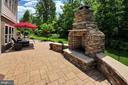Stacked stone fireplace for yearround enjoyment - 41139 WHITE CEDAR CT, ALDIE