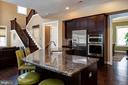 Eat in kitchen with granite, island, ss apps - 41139 WHITE CEDAR CT, ALDIE
