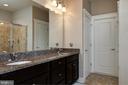 Master bath, double vanities w/ granite. - 41139 WHITE CEDAR CT, ALDIE