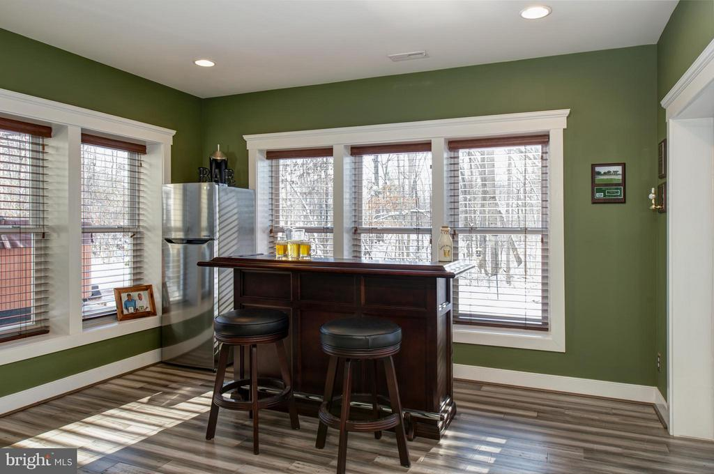 Lower level bar, opens to patio and  fireplace - 41139 WHITE CEDAR CT, ALDIE