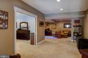 Basement, rec room, media area, bar, br/ bath - 41139 WHITE CEDAR CT, ALDIE