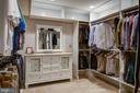 Spacious designer closet in basement - 41139 WHITE CEDAR CT, ALDIE
