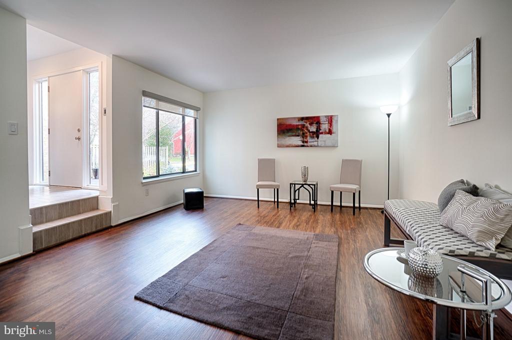 Living Room has luxury plank flooring - 1425 GREEN RUN LN, RESTON
