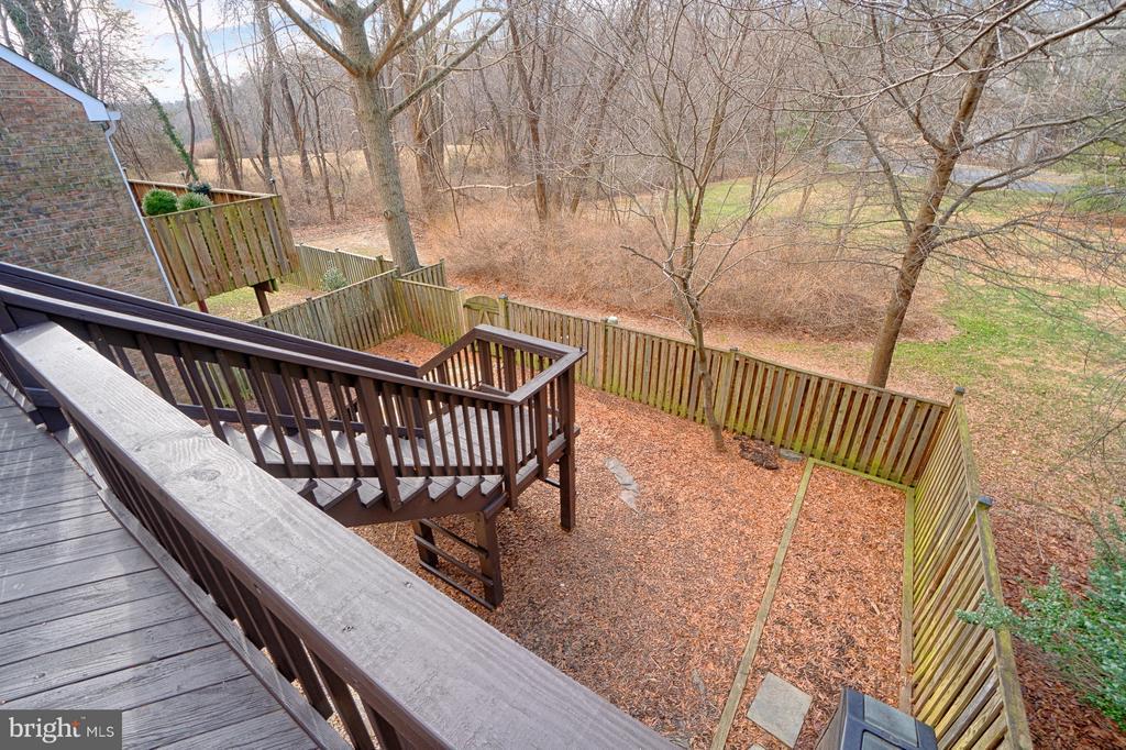 Backyard View - 1425 GREEN RUN LN, RESTON