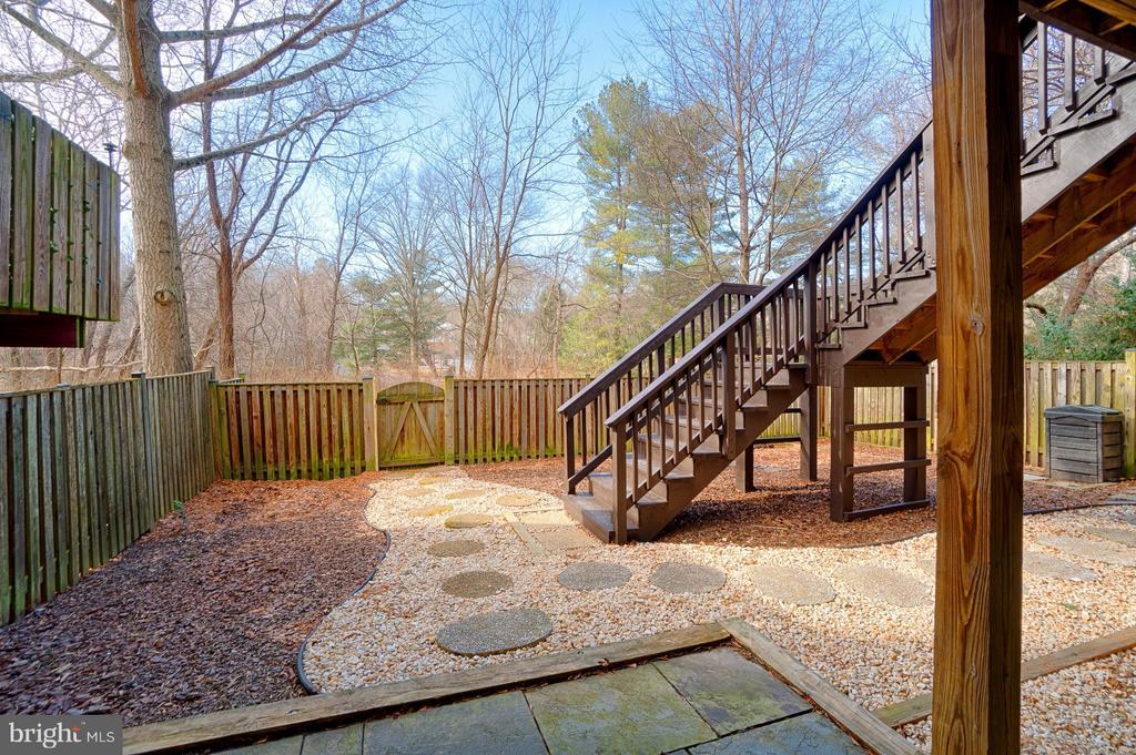 Backyard - 1425 GREEN RUN LN, RESTON