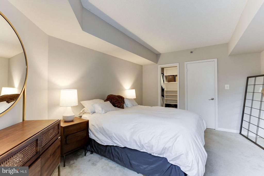Master bedroom w/ walk-in closet - 1001 N RANDOLPH ST #518, ARLINGTON