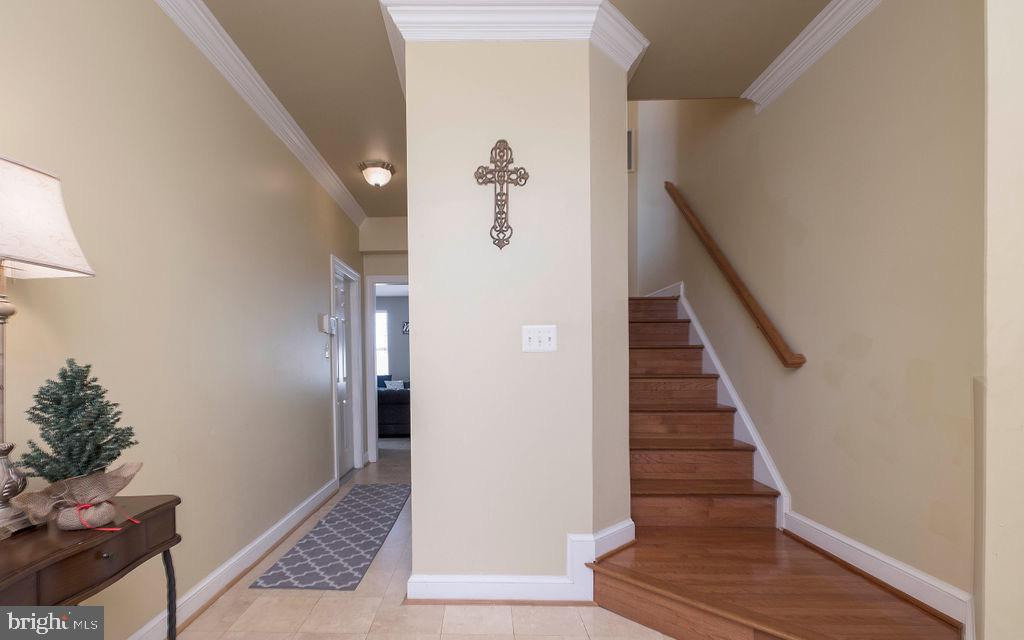 Entrance lower level & stairs to main level - 13375 COLCHESTER FERRY PL, WOODBRIDGE