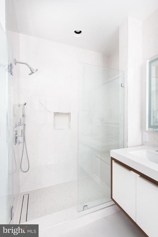 Luxurious marble shower - 1427 RHODE ISLAND AVE NW #204, WASHINGTON