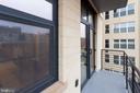 Private Balcony - 1427 RHODE ISLAND AVE NW #204, WASHINGTON