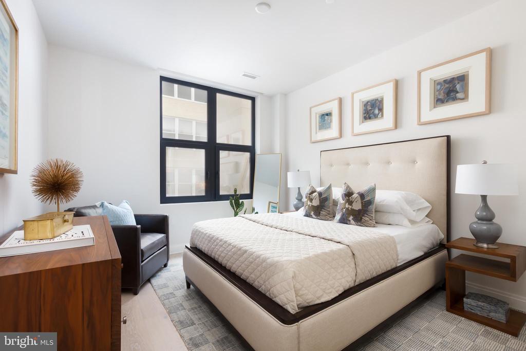 Spacious master bedroom - 1427 RHODE ISLAND AVE NW #204, WASHINGTON