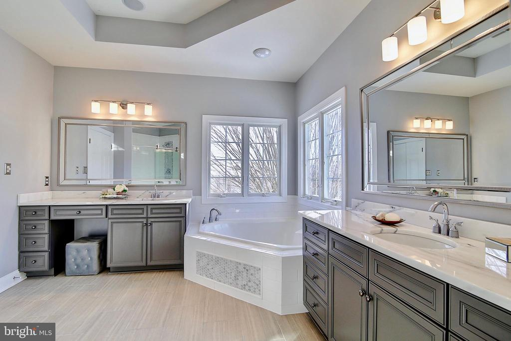 Master Bath (marble countertops) - 44181 RIVERPOINT DR, LEESBURG