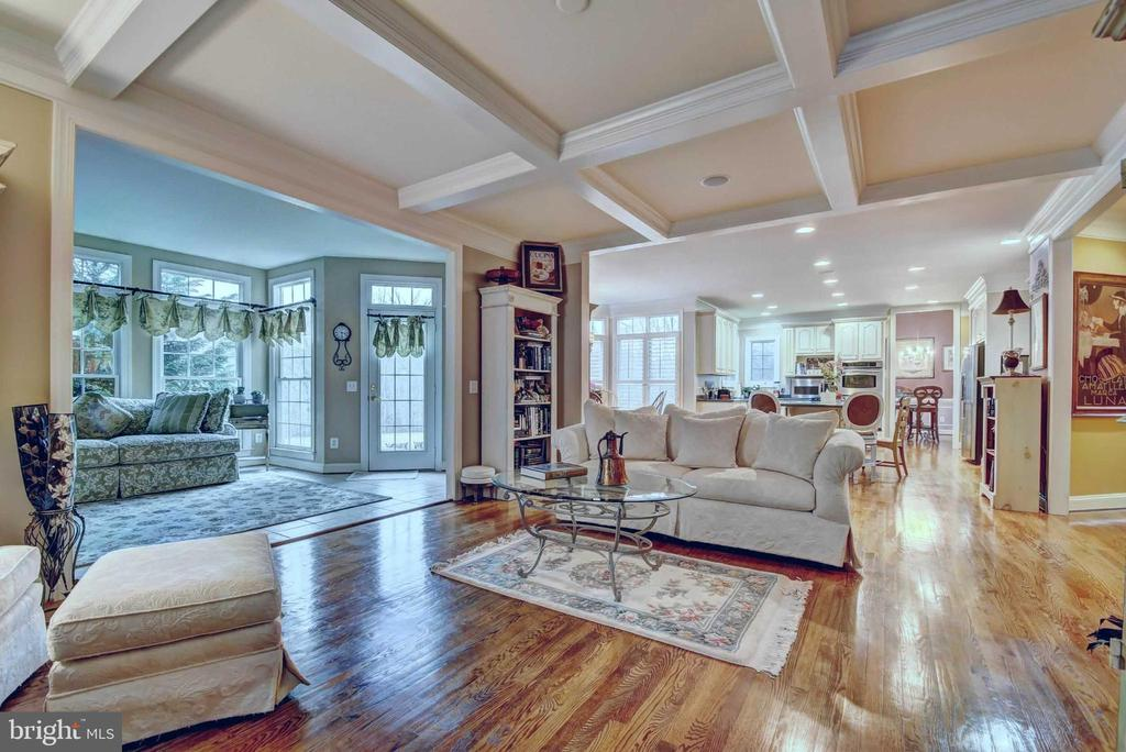 Family Room with Coffered Ceiling - 4424 TUSCANY CT, WOODBRIDGE