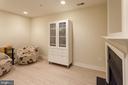 basement rec with Cortec flooring & fireplace - 1332 N DANVILLE ST, ARLINGTON