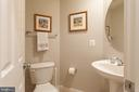 main level powder room - 1332 N DANVILLE ST, ARLINGTON