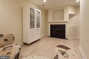 basement rec with Cortec flooring & fireplace - 1332 N DANVILLE ST, ARLINGTON