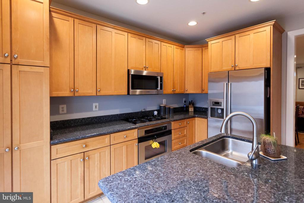 Granite countertops & maple cabinets w/ rollsouts - 1332 N DANVILLE ST, ARLINGTON