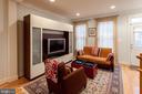 Light-filled south-facing living room - 1332 N DANVILLE ST, ARLINGTON