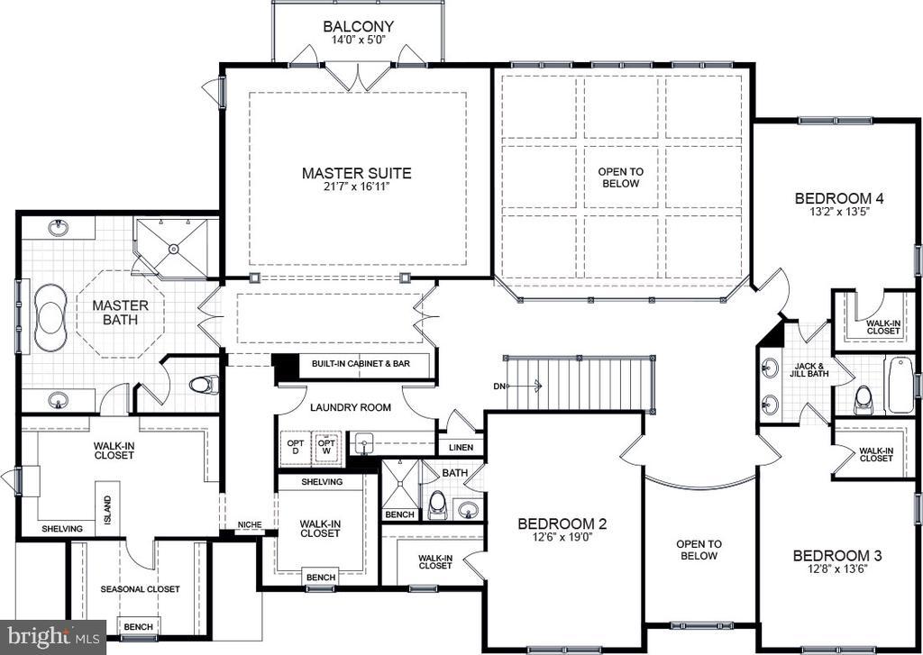 2nd Floor Layout - 10704 LOCKLAND RD, ROCKVILLE