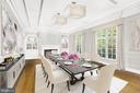 Virtually Staged Dining Room - 11617 HIGHLAND FARM RD, POTOMAC