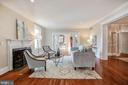 Large living room features a gas fireplace - 4619 27TH ST N, ARLINGTON