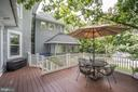 Deck off the large Family Room overlooks rear yard - 4619 27TH ST N, ARLINGTON