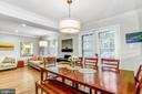 Dining Area w/ french doors opening to large deck - 11715 NORTH SHORE DR, RESTON