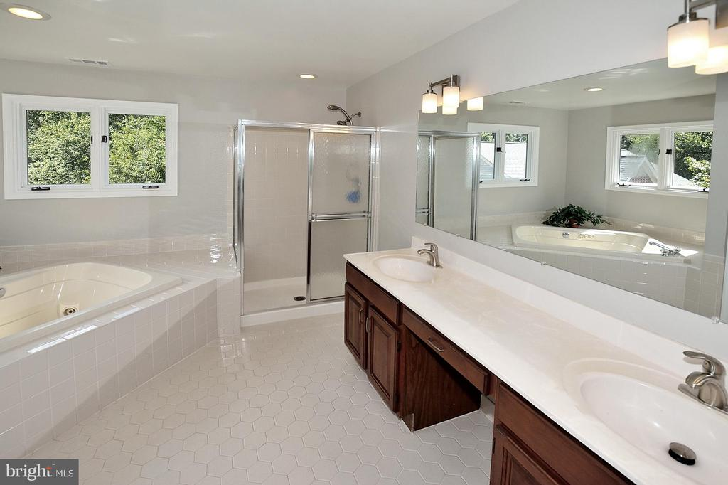 Owner's Bath w/ double vanity and and soaking tub - 46441 MONTGOMERY PL, STERLING
