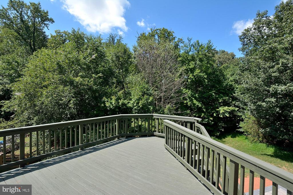 Deck overlooking trees - 46441 MONTGOMERY PL, STERLING