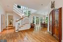 Looking from Kitchen to Breakfast Room - 6004 BROOKSIDE DR, CHEVY CHASE
