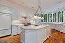 Gourmet Kitchen with Island - 6004 BROOKSIDE DR, CHEVY CHASE