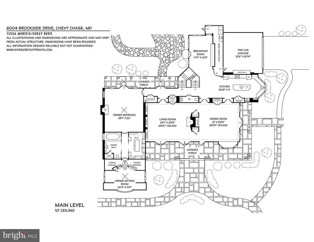 Main Level Floor Plan - 6004 BROOKSIDE DR, CHEVY CHASE