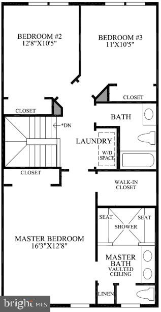 Bethesda  Upper 1 Floor Plan - 22639 NORWALK SQ, ASHBURN