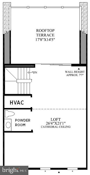 Bethesda Upper 2 Floor Plan - 22639 NORWALK SQ, ASHBURN