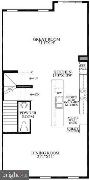 Bethesda Entry Level  Floor Plan - 22639 NORWALK SQ, ASHBURN
