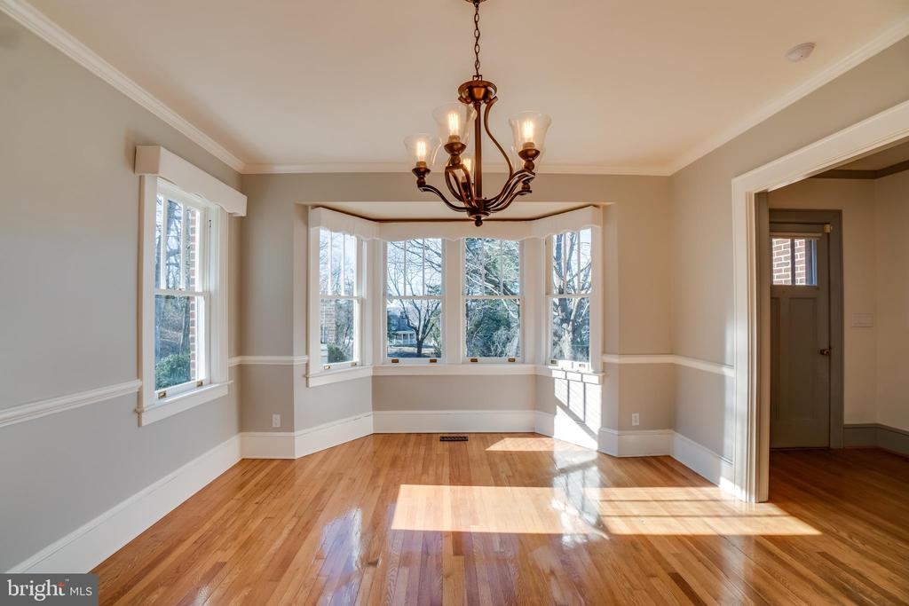 Bay Window in Formal Dining Room - 405 FORBES ST, FREDERICKSBURG