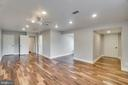 Ample Recessed Lighting, Fan and Space in Master - 405 FORBES ST, FREDERICKSBURG