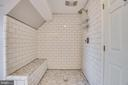 Walk In Shower with Bench, Subway Tile, Fan - 405 FORBES ST, FREDERICKSBURG