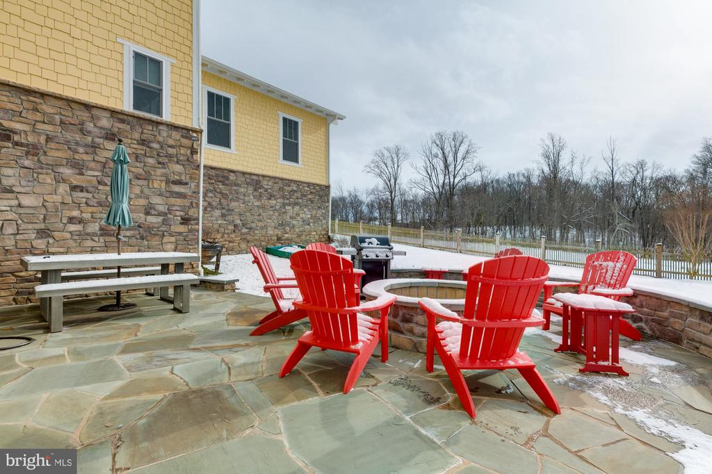 Huge stone patio off walk-out level - 41621 WHITE YARROW CT, ASHBURN