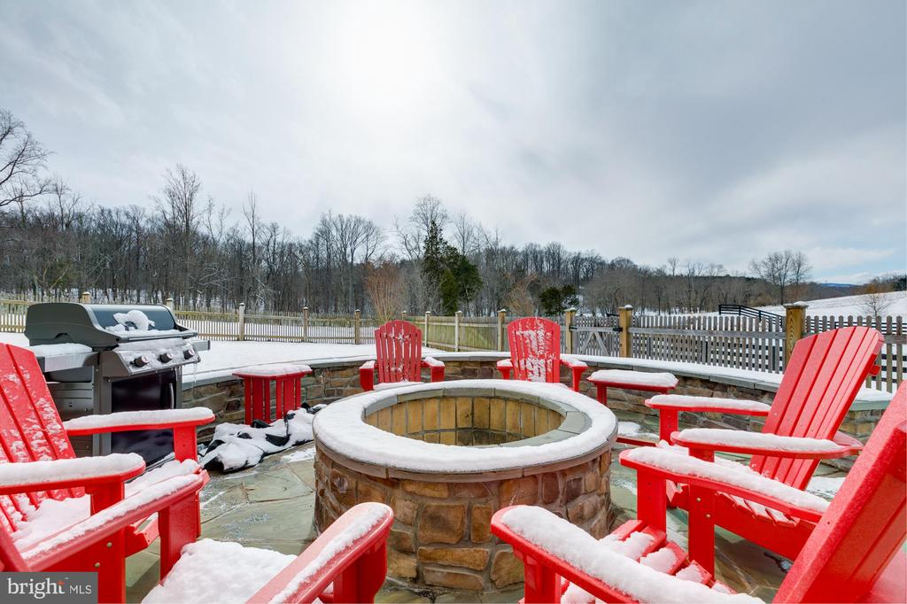 Fire pit is great for outdoor fun! - 41621 WHITE YARROW CT, ASHBURN