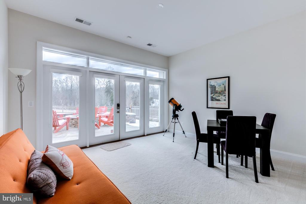 Bedroom 5 on lower level with en-suite & 2 closets - 41621 WHITE YARROW CT, ASHBURN