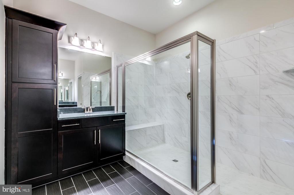 Luxury en-suite bath for lower level bedroom - 41621 WHITE YARROW CT, ASHBURN