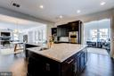 Unique T-shaped island with veggie sink - 41621 WHITE YARROW CT, ASHBURN