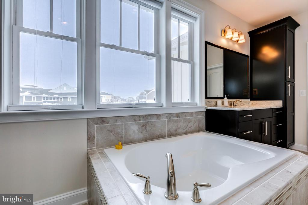 Soaking tub is perfect for relaxation - 41621 WHITE YARROW CT, ASHBURN