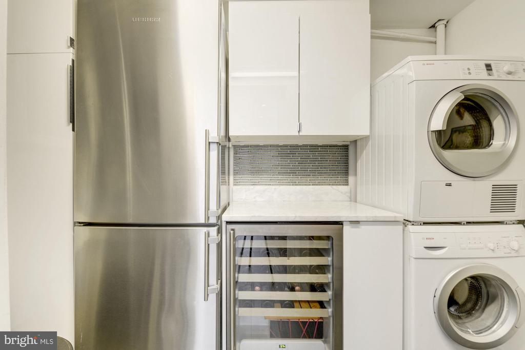 Pantry - 2nd Liebherr fridge, wine fridge, W/D - 1901 WYOMING AVE NW #11, WASHINGTON